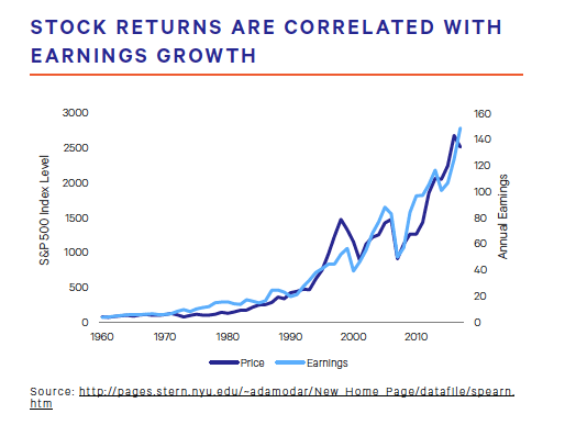 Stock Returns Are Correlated With Earnings Growth